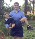 Stefan Corbett (grade 11) and Stefan Potgieter (grade 8) support the great course.
