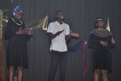 WINNER, VOCAL GROUP – Pontsho Mailula, Noah Mafaralala and Tumiso Malele.
