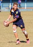 Francois O'Connell in beheer van die bal.