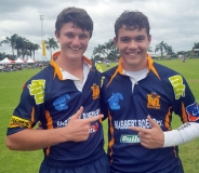 Ruan van der Schyff and Duan Rossouw (u.16) brag with their new jerseys.