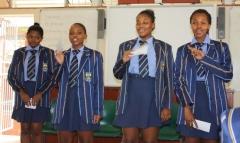 GRADE 9 IN ACTION Hlayisanani Shingange, Lulama Mkhawana, Shumikazi Ngonyoza and Palesa Shiluvane.