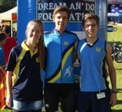 DIE MERENSKY-SPAN Jenelle de Jonge, Sheldon Muller en Armand Cronjé.