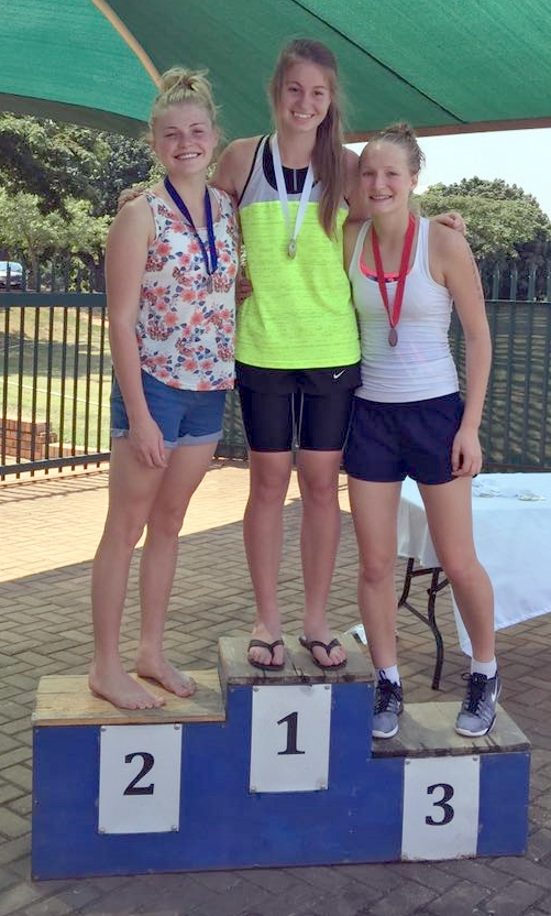 Jenelle de Jonge at the Limpopo Champs Biathlon.