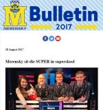 M-Bulletin: 28 Augustus 2017