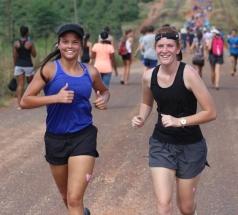 JUNIOR GIRLS WINNERS: Bercha Venter and Michelle Brummer.