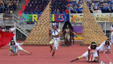 The cheerleaders: Clariska Venter, Chris Bill, Belinda Nzadi and Riëtte Warmenhoven.