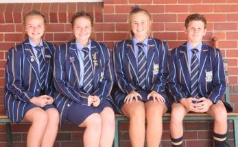 GRAAD 9: Suandrie Corbett, Jamie Robertson, Amelda Pretorius en Dian Malherbe.