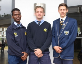 LIMPOPO U.18A Front: Samuel Modiba, Jordan Stevens and Donovan van Tonder.