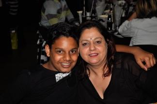 Kapil Kesa and Mom Roshni.
