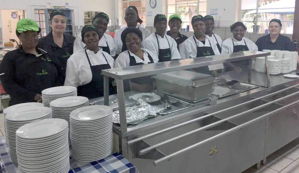 THE FRIENDLY KITCHEN STAFF: Wilhelmina Makwel, Tracy Godley, Maria Khosa, Sabiena Mamolope, Stephen Ramaila, Patience Maimela, Connie Monyela, Helen Maake, Magrit Modiba, Simon Mmola, Frans Mothobeki and Irma Stokes.