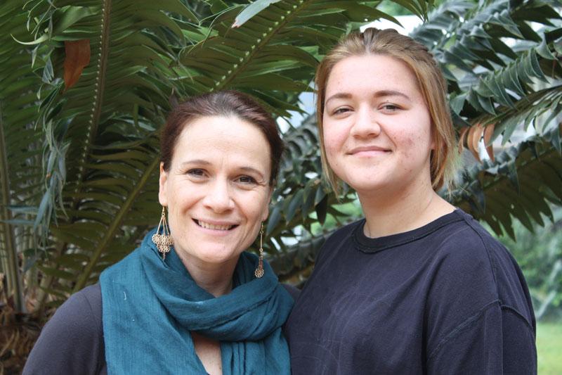 Anriette van Rooyen (tutor) and Jordin Young.