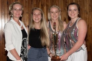 Ms Celia Duvenhage, Amelia Middleton, Hayley Stephenson and Jenna Devenish.