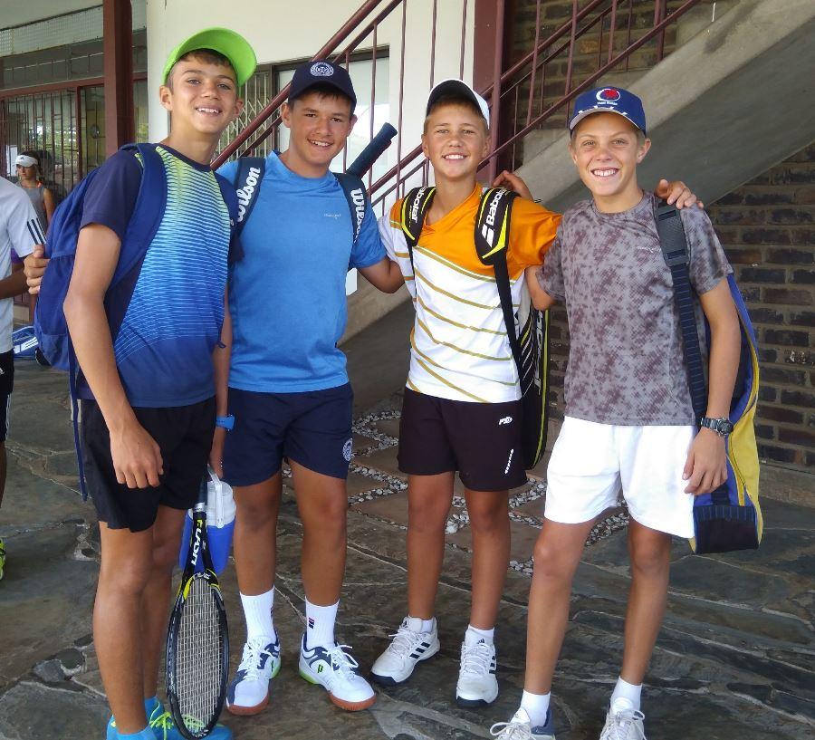 Franco Pretorius (Merensky), Hanco Benadé (Warmbad), Ruwan van der Watt (Polokwane) en Marais Botha (Merensky).