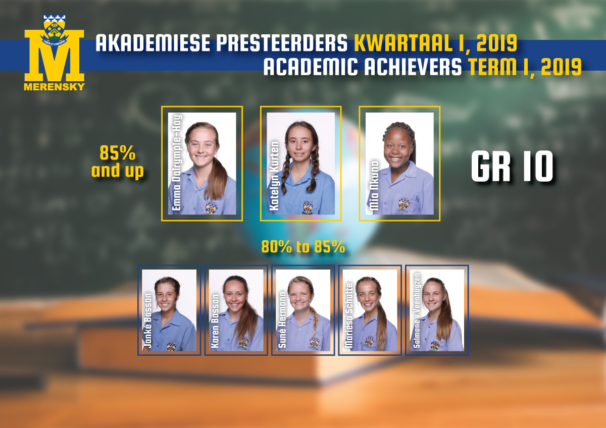 Academic achievers grade 10
