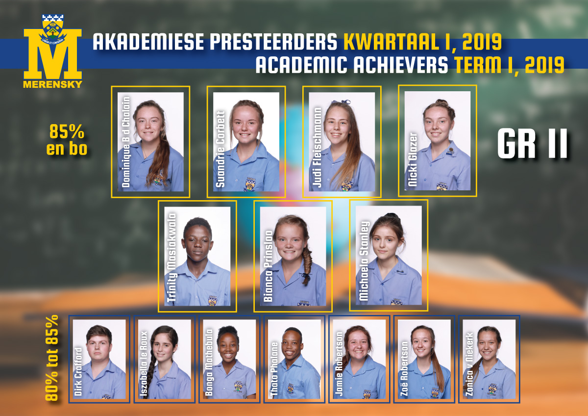 Academic achievers grade 11