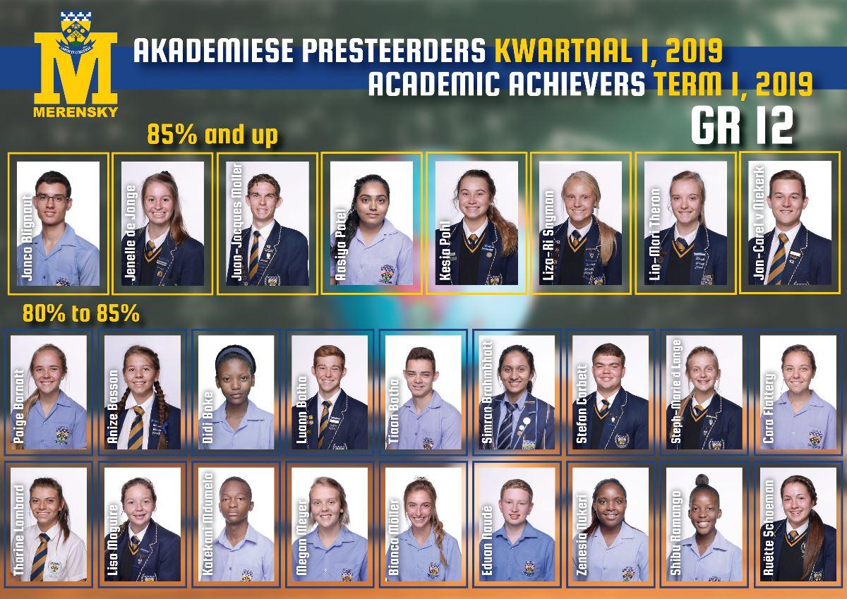 Akademiese presteerders graad 12