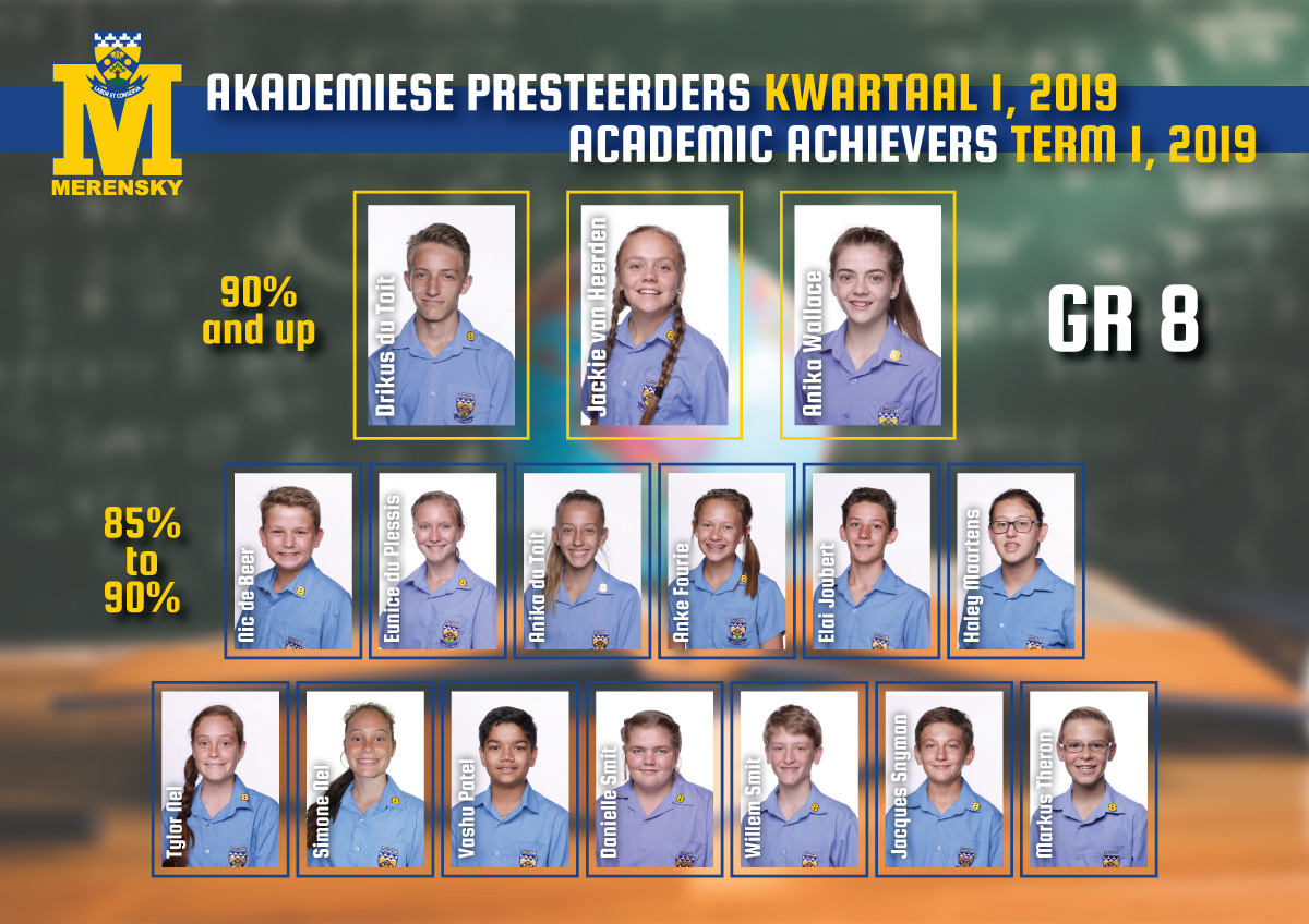 Academic achievers grade 8