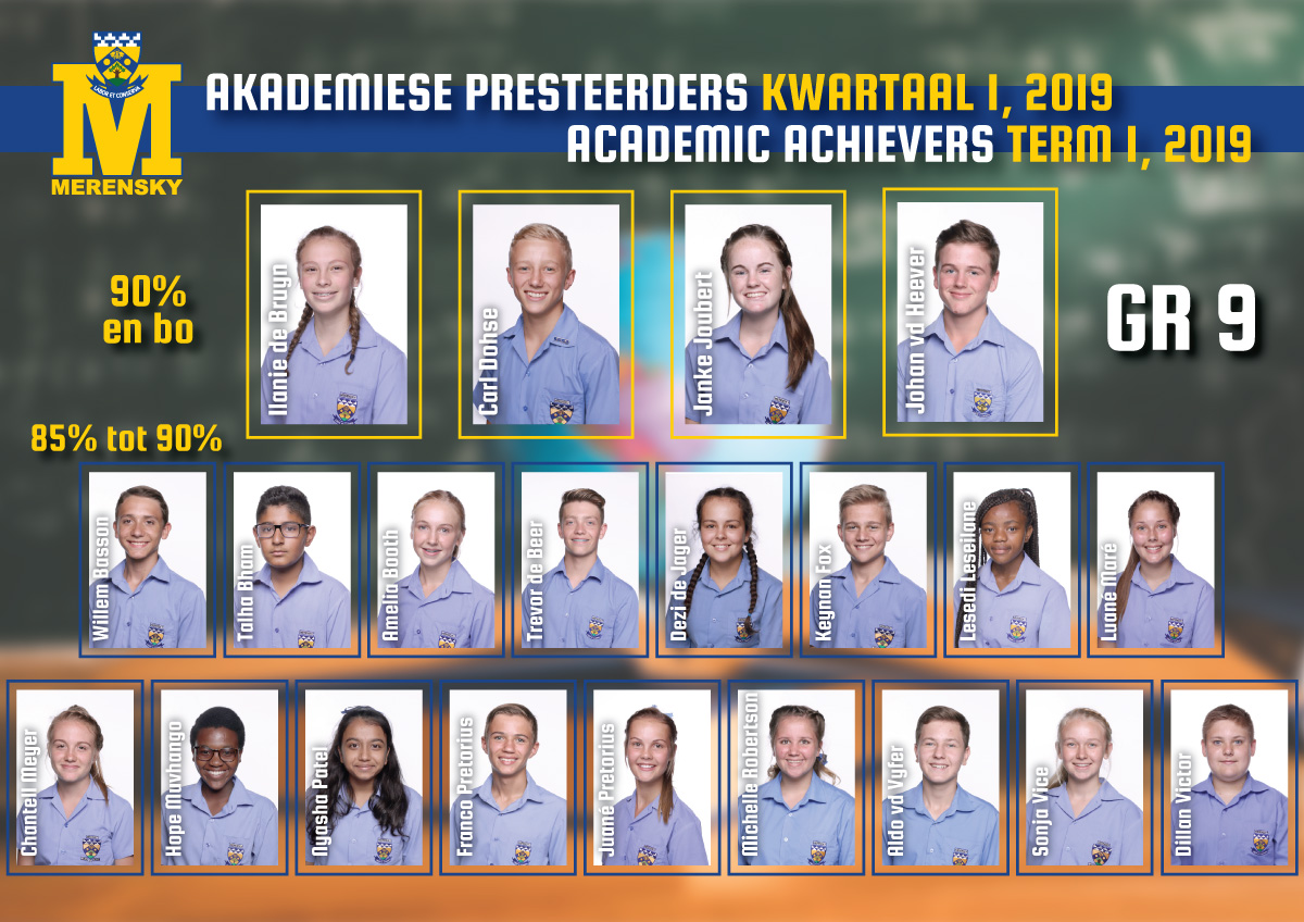 Academic achievers grade 9