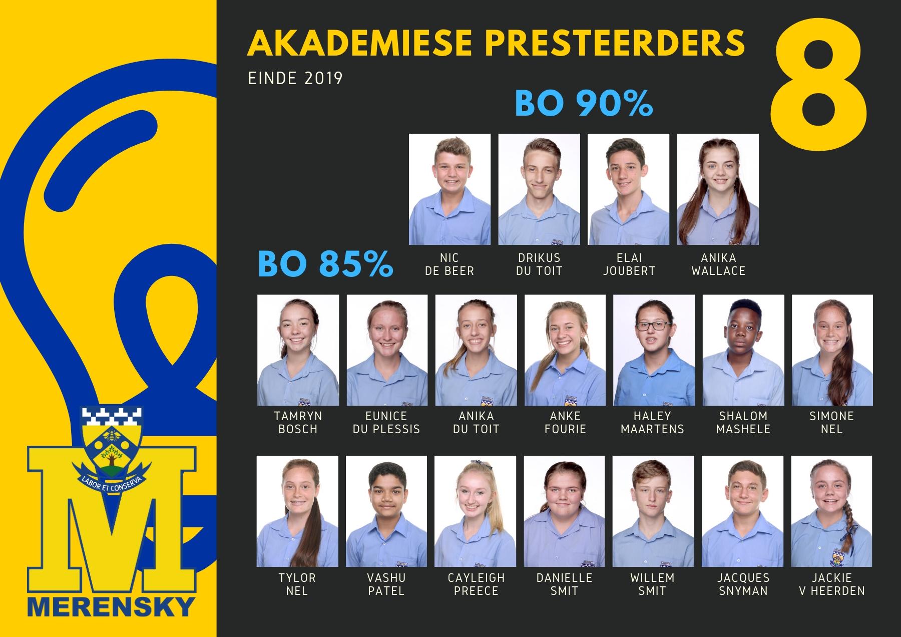 Gr 8 Akademiese Presteerders
