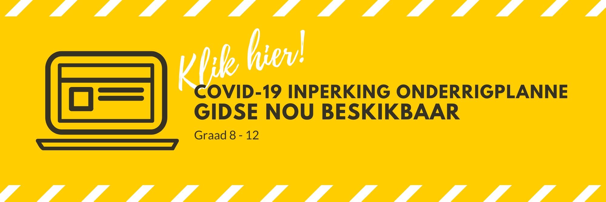 COVID-19 Inperking Onderrigplanne