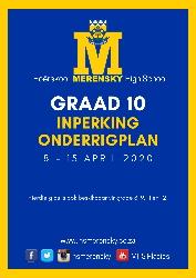 Graad 10 Inperking Onderrigprogram 1