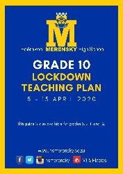 Gr 10 Lockdown Teaching Plan 1
