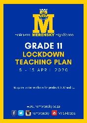 Gr 11 Lockdown Teaching Plan 1