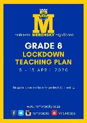 Gr 8 Lockdown Teaching Plan 1