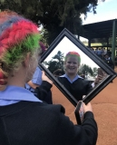 Mirror, mirror on the wall… Jessica Lind (grade 11).