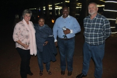 Mesdames Ronel Steyn and Patricia Nomvela with Mr Felix Nomvela (circuit manager, department of education) and Mr Magnus Steyn (principal, Merensky High School).