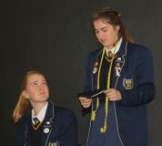 Bianca Elbrecht en Kyla Schoeman (graad 12).