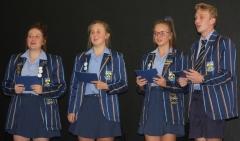 GRAAD 10-SPAN Jamie Robertson, Amelda Pretorius, Suandrie Corbett en Ikne Stucki.