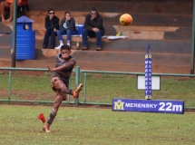 Delux Jooste (1st team) aiming for a goal.