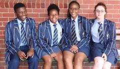 GRADE 12 ENGLISH Nelson Mohale, Monique Zhanda, Khubi Sekgobela and Anya Glazer.