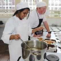 Aaliyaa Modan and Philip Mostert preparing the starter.