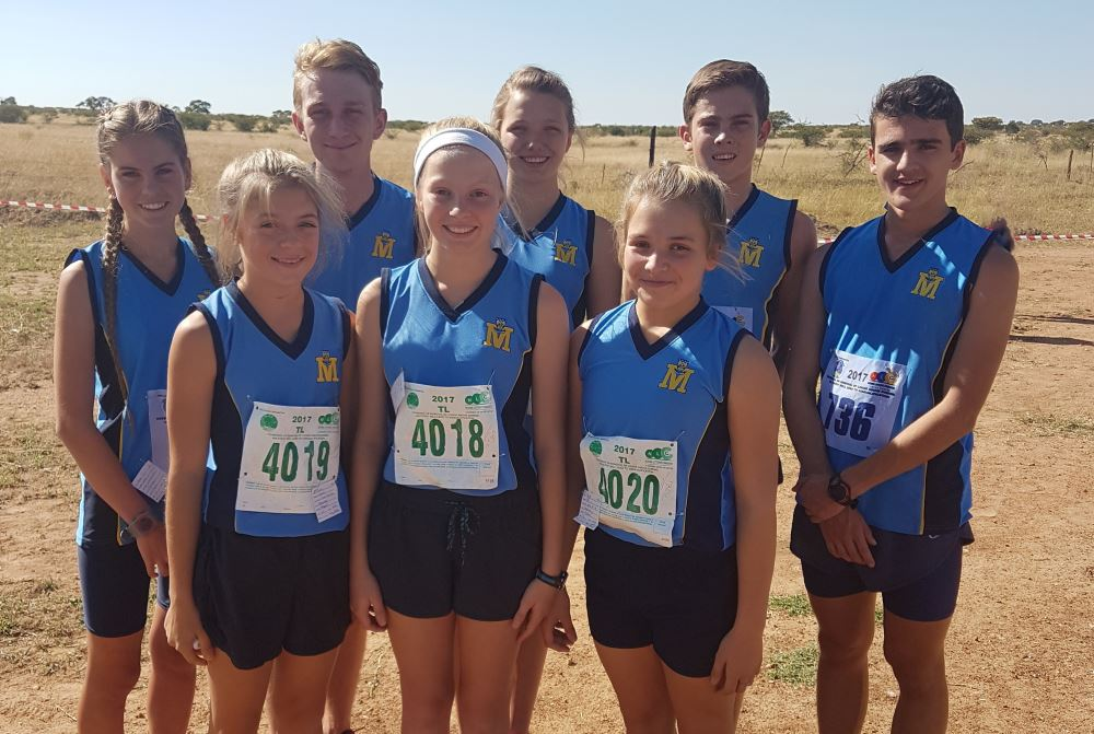 Front: Jamie Coppen, Cherlyn Schmidt and Tayla Vos. Back: René Wiese, Ikne Stucki, Melissa Pieterse, Armand Cronje and Francois Nothnagel.