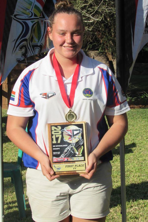 Canell Jackson by die Mpumalanga ABO 3Di-kampioenskap.
