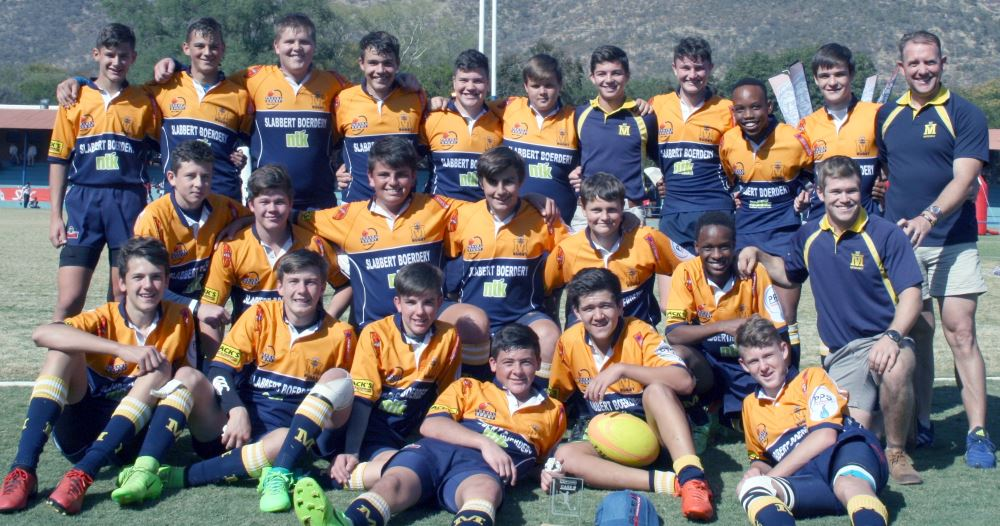 The u.15 rugby team at Limpopo semi finals.