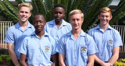 LIMPOPO U.16B Front: Masilo Mabilo and Ryan Jackson. Back: Dillon de Lange, Itumeleng Makhubela and Luann Botha.