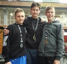 Pieter du Toit (Shamu Club), James Joubert (Shamu Club) and Ronan Theron (TASC).
