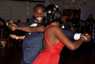 Noko Malatji takes Naledi Mailula for a few steps on the dance floor.