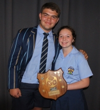 CLASS OF THE YEAR Stefan Corbett and Lisa Maguire (RCL)