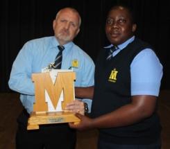 Mr Magnus Steyn (headmaster) and Thabiso Shai.