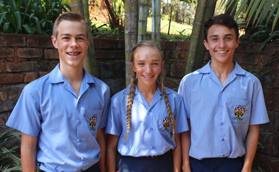 Ronan Theron, Kayla Olivier en Daniel Smit.