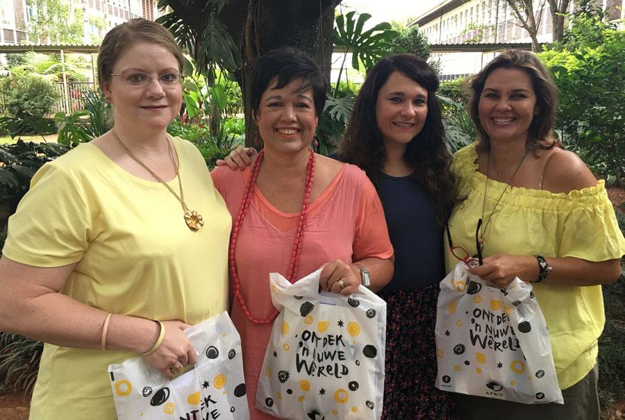 Yolandé Rautenbach, Sunet van Gass, Claudia Olivier en Trudie Botha van Merensky het die ATKV-werkswinkel bygewoon.
