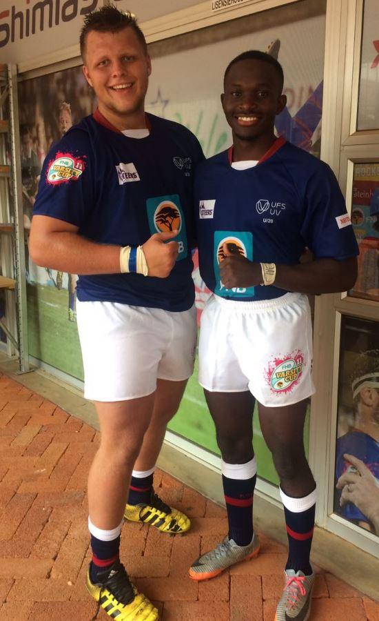 Barend Lombard en Noko Malatji.