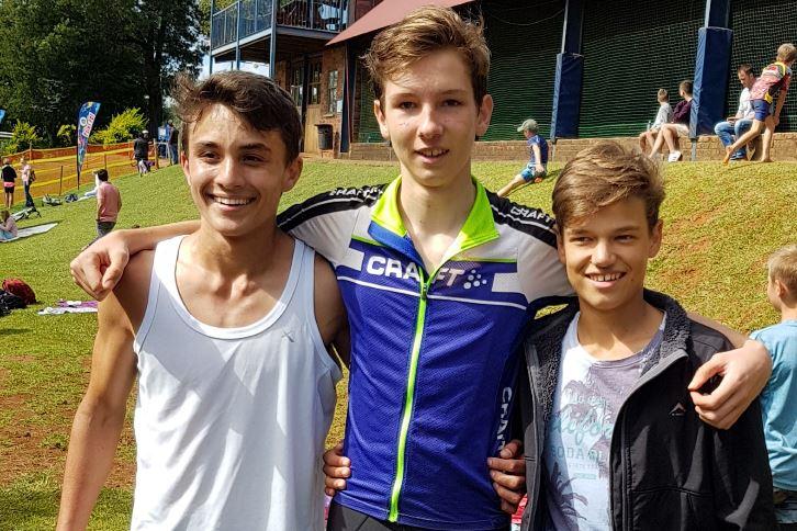 DIE DLB-SPAN Daniel Smit, Bevan Muller en Luca Wasley.